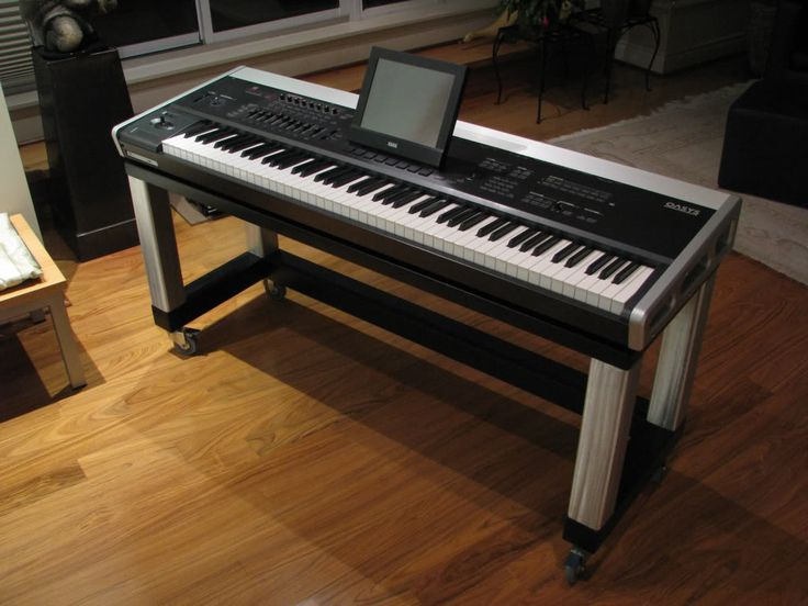 wood keyboard stand would you buy one harmony central rolling piano stand keyboard. Black Bedroom Furniture Sets. Home Design Ideas