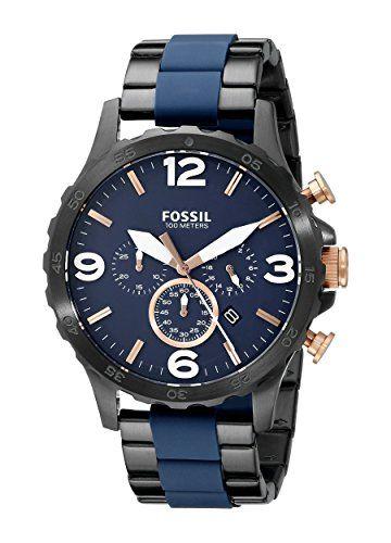 Now available Fossil Men's JR1494 Nate Analog Display Analog Quartz Black Watch