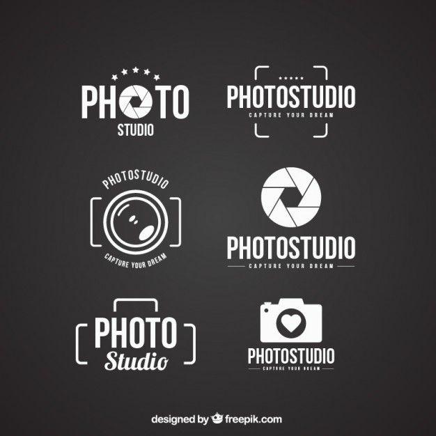 Logos de estúdio de fotografia Vetor grátis