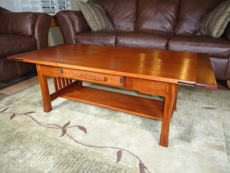 Basic wood coffee table plans woodworking projects plans for Free greene and greene furniture plans