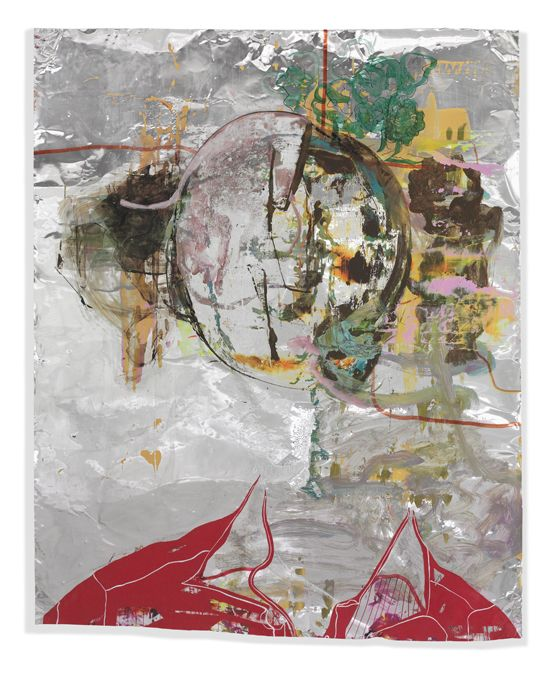 Firstly I want to be all smiles, 2012   Acrylic, oil on aluminium   156 x 125 cm   61,4 x 49,2 in.