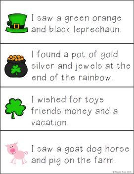 Lucky Literacy and Math Activities/Centers for 1st Grade. Includes ABC order, Making Words, Commas in a Series, and Telling/Writing Time to hour and half hour. $