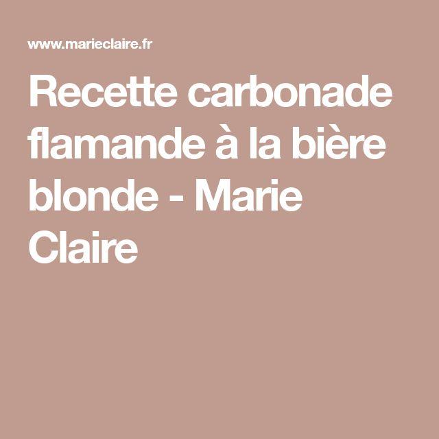 Recette carbonade flamande à la bière blonde - Marie Claire