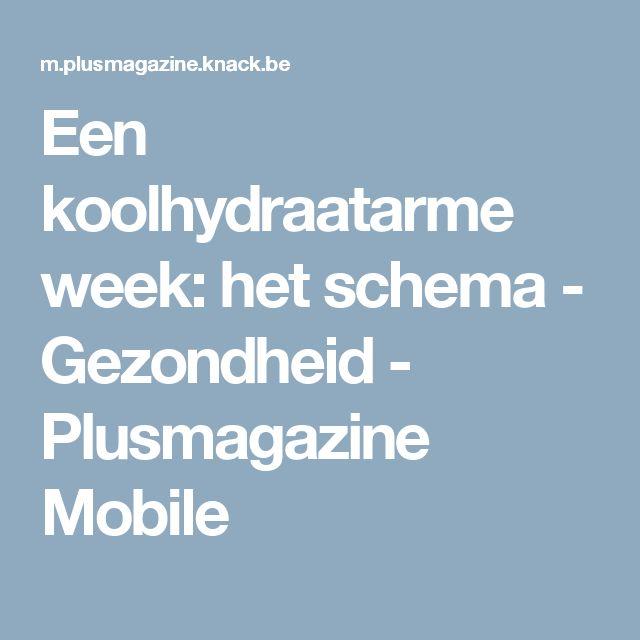 Een koolhydraatarme week: het schema - Gezondheid - Plusmagazine Mobile