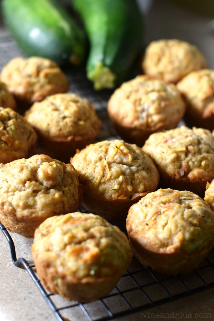 Apple Carrot Zucchini Muffins   The most delicious muffins with some sneaky vegetables on the side!