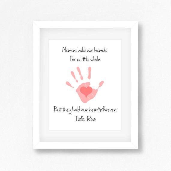 New Grandparents Gift Unique Grandmother by PerfectLittlePrints