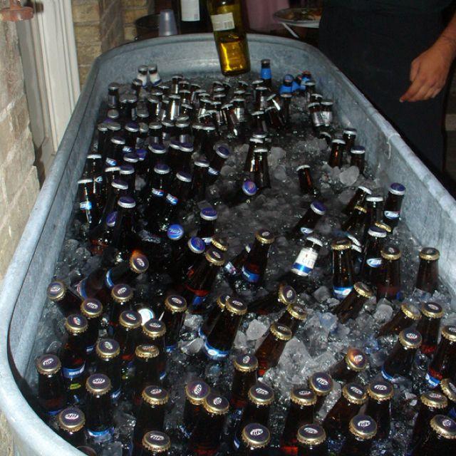 Self Serve Beer Amp Wine Trough Weddings Pinterest