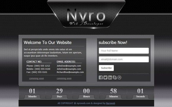 Coming soon-HTML Template. HTML/CSS Themes. $5.00