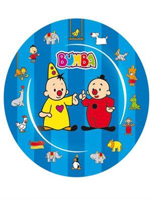 Eet je (Bumba) taart en al je snacks van dit leuke Bumba bordje. Voor een geslaagd kinderfeest!