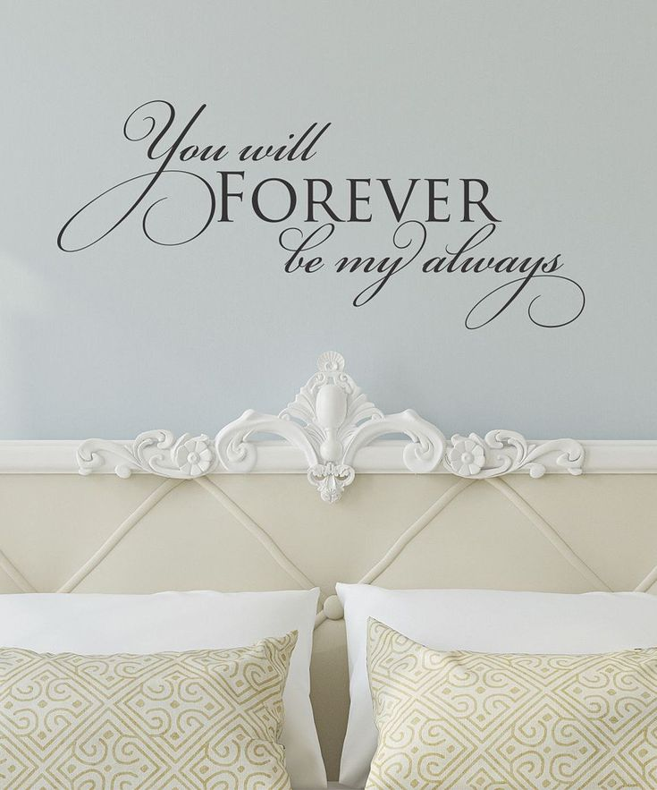 Look at this Black 'Forever Be My Always' Wall Quotes Decal on #zulily today!