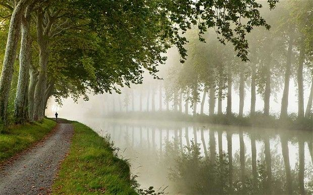 Canal du Midi in Languedoc...