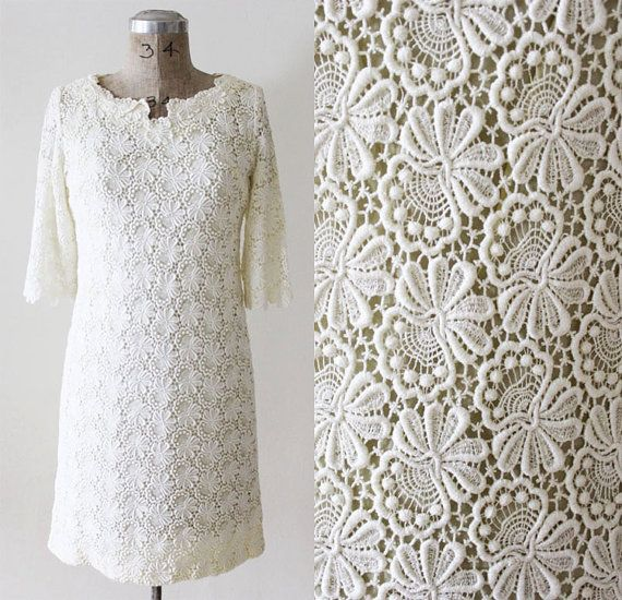 Guipre LACE 60'S Wedding Dress