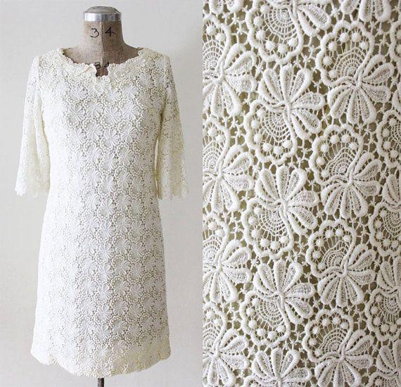 Guipre LACE 60'S Wedding Dress