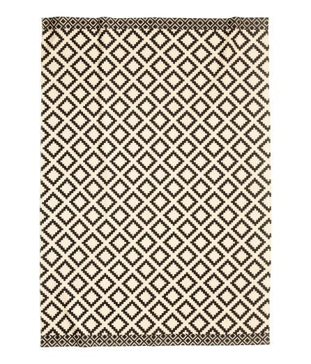 Large Cotton Rug | Natural white/charcoal gray | Home | H&M US