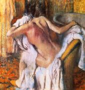 After the Bath, Woman Drying Herself I  by Edgar Degas