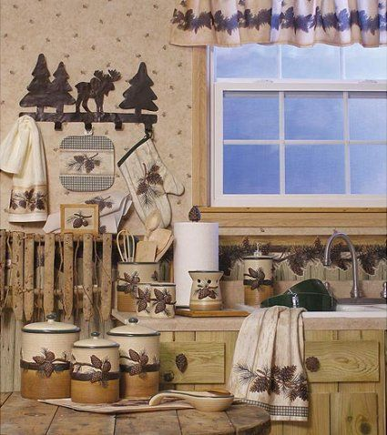 Cabin Bedding | Cabin Kitchen Accessories, Lodge Kitchen Decor Rustic Kitchen…