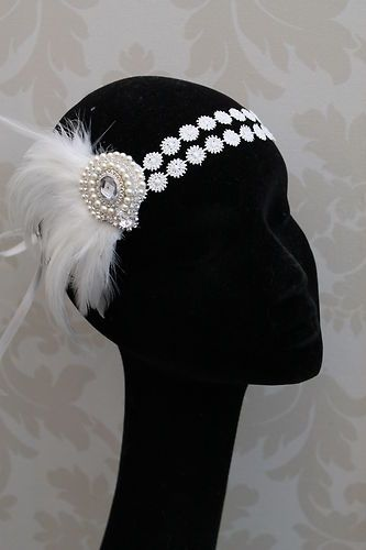 1920s Flapper Headband Style Headband Feather Fascinator Fancy Dress Vintage new | eBay