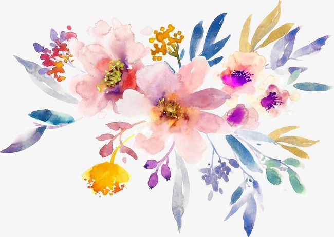 手绘水彩春天花朵 Flower Painting Watercolor Flowers Paintings