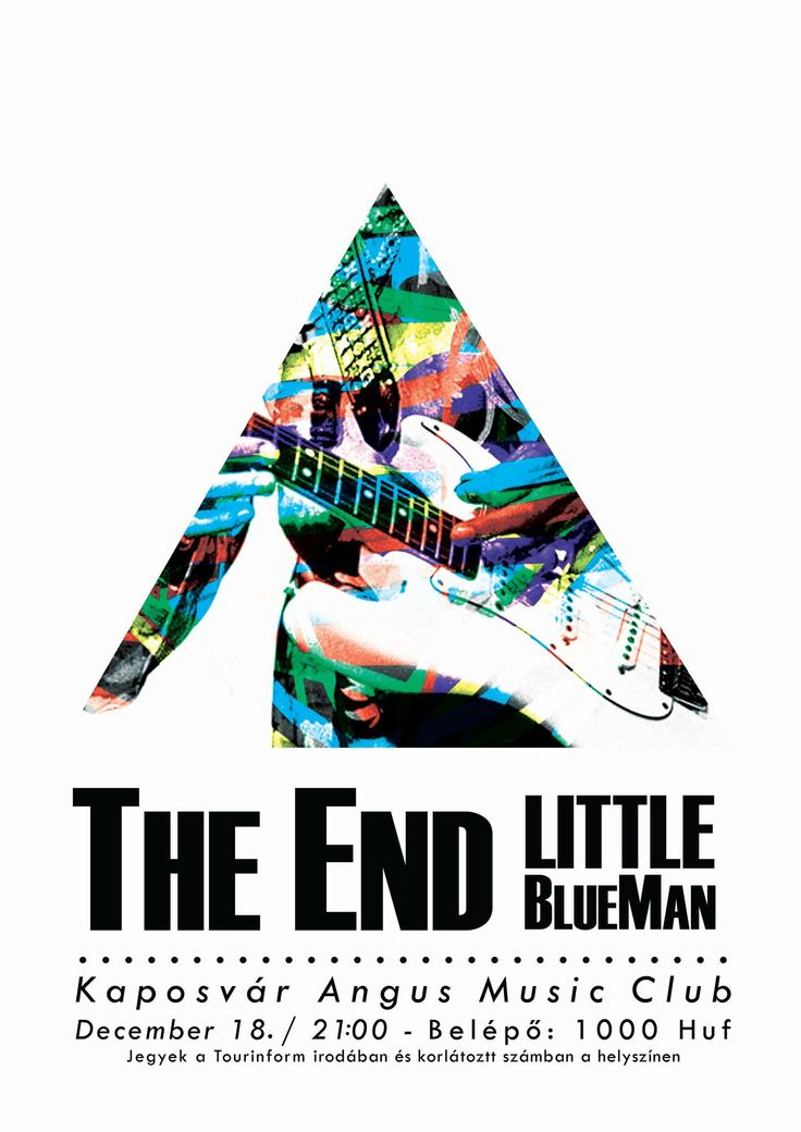 poster design, Little BlueMan, music