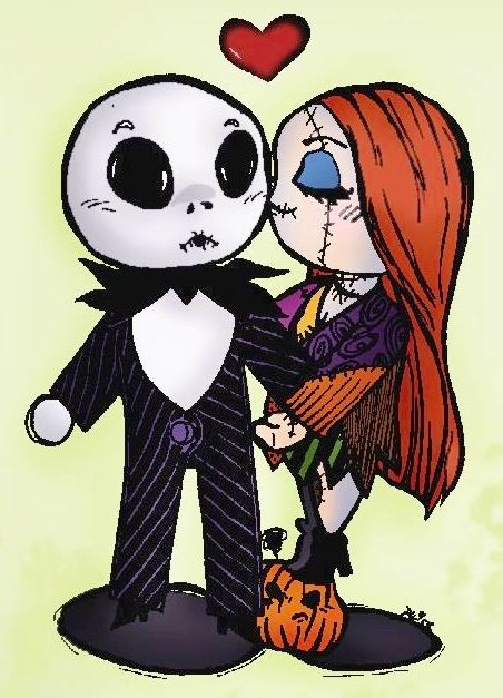 The Nightmare Before Christmas Jack and Sally
