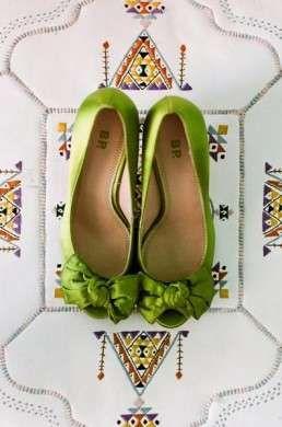 Il matrimonio in verde acido - Matrimonio in verde scarpe