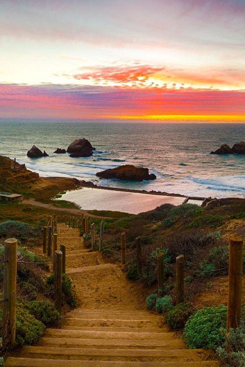Path to the Sutro Baths, San Francisco, CA  by RobertRay