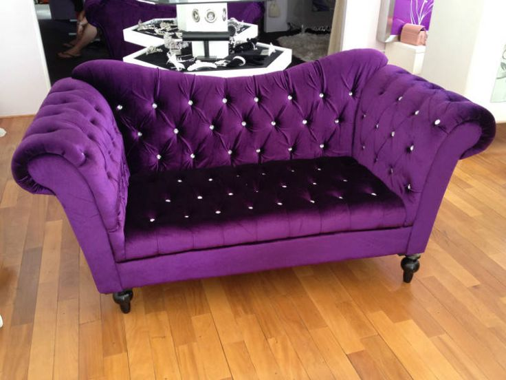 Elegant purple sofa all things purple pinterest for Purple sofa