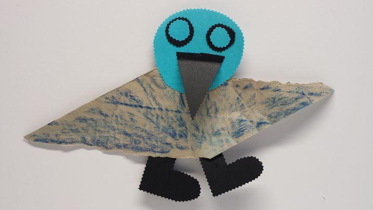 Vanessan lintu. askartelu | kädentaidot | paperi | lasten | lapset | helppo | askarrellaan | kids | children | easy | crafts | Pikku Kakkonen