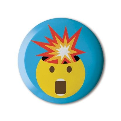 "❤️ #BBOTD Stereohype #button #badge of the day by FL@33's Tomi Vollauschek 🎈🐿 #emoji #thestoryofemoji #customemoji #mindblown #mindblowing #omg #fun #boom #graphicart #fashion #accessories #menstyle #menswear #mensfashion #womenstyle #womensfashion #style #lapel #pin #giftidea #graphicdesign • Also available as ‪👉8x10"" Fine Art Giclée Print on beautifully textured 310gsm Hahnemühle paper (with embossed Stereohype certification seal)."