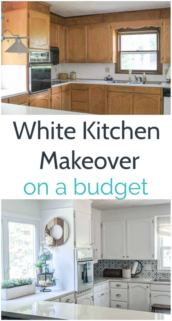 Bright White Kitchen Makeover On A Budget Lovely Etc In 2020 White Kitchen Makeover Budget Kitchen Makeover Kitchen Makeover