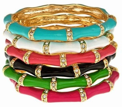 Fornash bangles: Bamboo Bangles, Enamels Bamboo, Black White, Fashion Accessories, Gold Watches, Bangles Bracelets, Stones, Bamboo Enamels, Enamels Bangles Lov