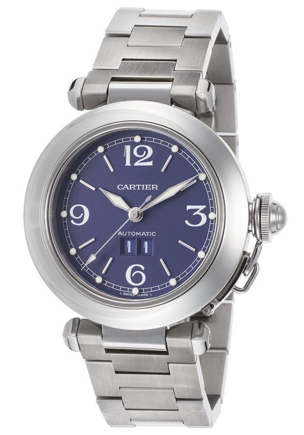 Cartier W31047M7-PO Watches,Men's Pasha C Auto Stainless Steel Navy Blue Dial, Luxury Cartier Automatic Watches