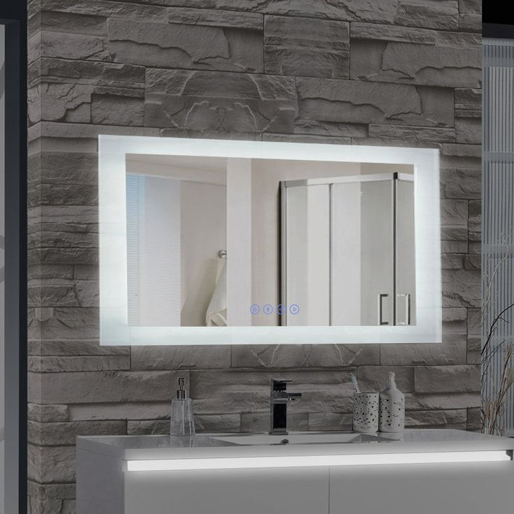 encore led illuminated bathroom wall mirror with builtin bluetooth audio speaker
