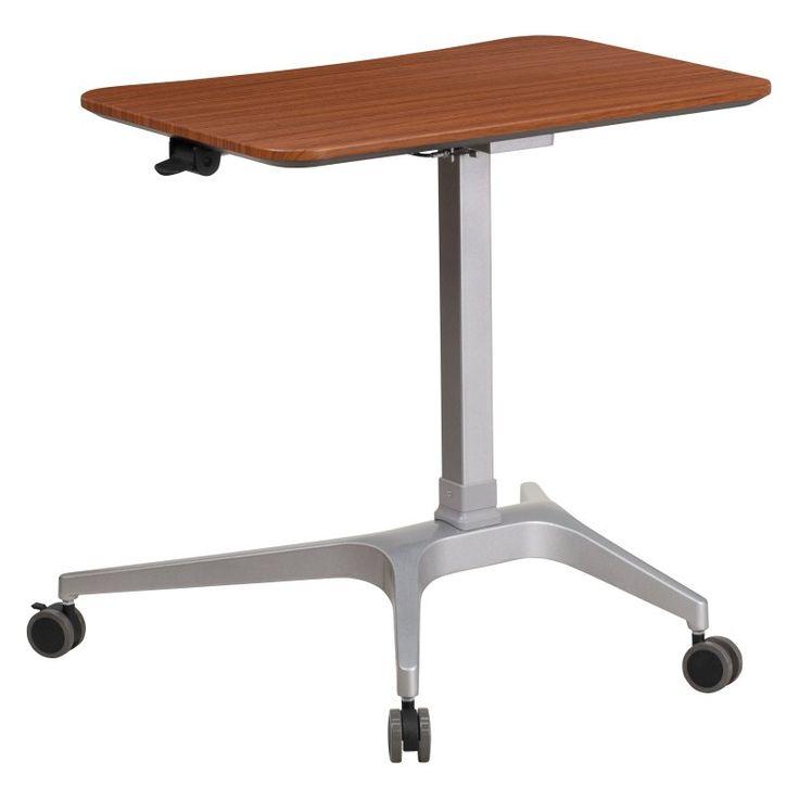 Flash Furniture Adjustable Height Computer Cart - Mahogany - NAN-IP-9-GG