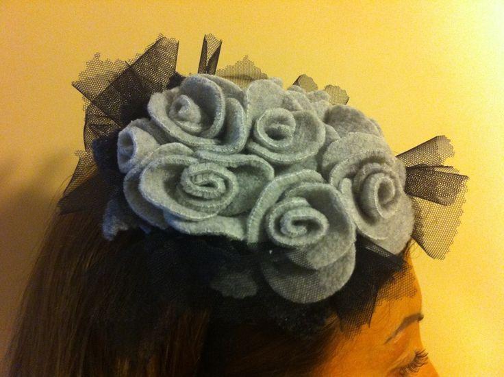 Cerchietti per capelli - cerchietto elegante da cerimonia - un prodotto unico di raffaellacreazioni su DaWanda