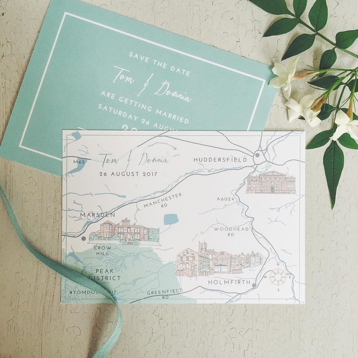 Custom Wedding Map And Save The Date Uk Venue Illustration Custommap Personalmap
