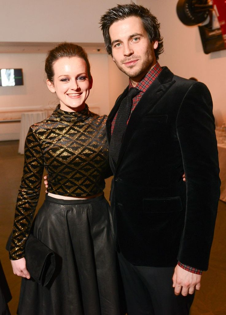 Downton Abbey's Sophie McShera (Daisy) and Rob James-Collier (Thomas).  Rob looks so cute here it almost makes me hate Thomas a little less.