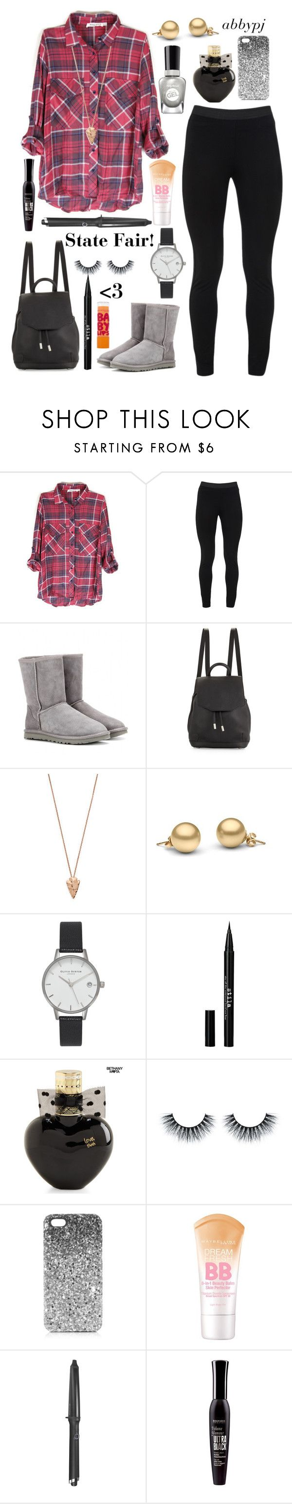 """State Fair Outfit!"" by abbypj ❤ liked on Polyvore featuring Peace of Cloth, UGG Australia, rag & bone, Pamela Love, Olivia Burton, Sally Hansen, Stila, Aéropostale, Topshop and GHD"