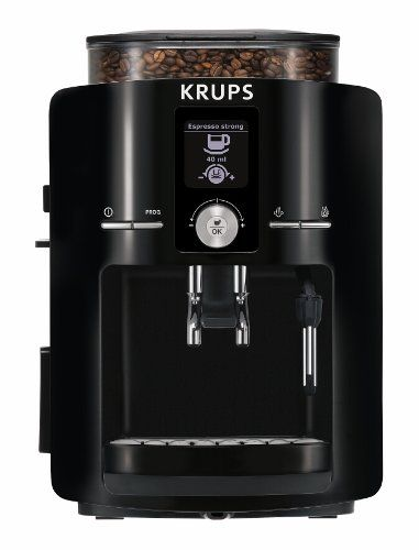 KRUPS EA8250 Espresseria Fully Automatic Espresso Machine with its Built-in Conical Burr Grinder guarantees you a consistently hot cup of coffee every time thanks to its unique thermoblock system. With its 15 bar pump, hydraulic automated tamping system, and metalic burr grinder, the KRUPS EA82 will enable anyone to prepare perfect shots of espresso.