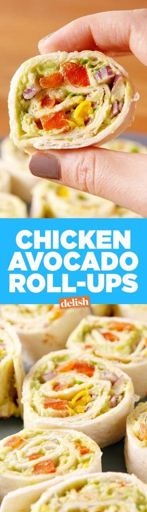 Chicken Avocado Roll-Ups  - Delish.com