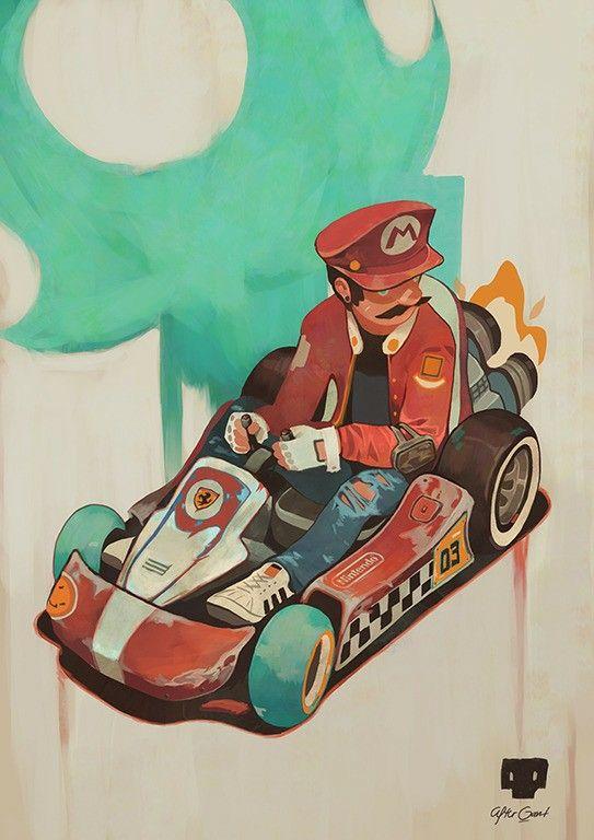 Mario Kart Art By Ikhwan Waliyudin