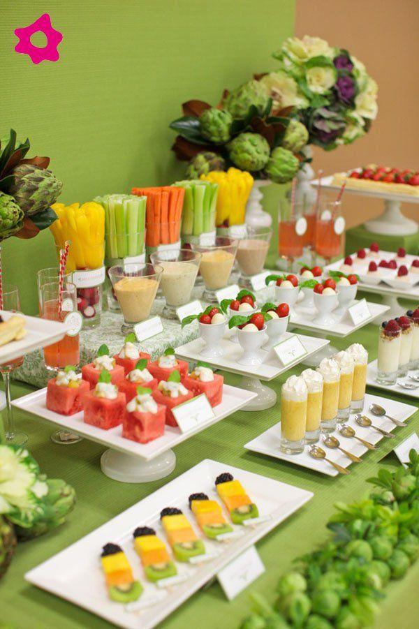 Buffet de frutas en tu boda