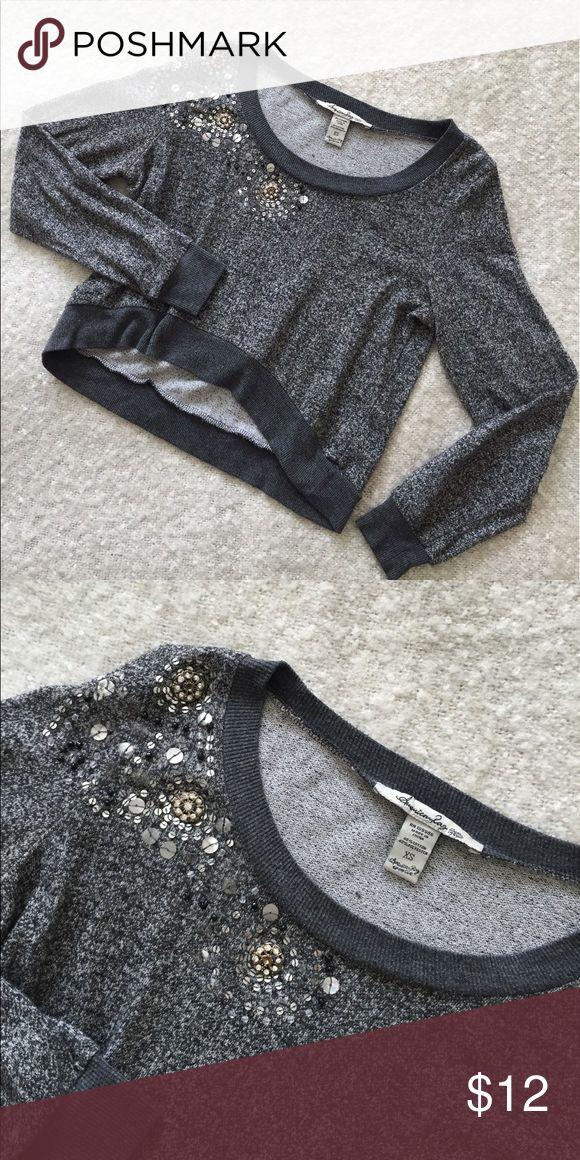 American Rag Embellished Top! Upper soft American Rag embellished top!                         • Size XS American Rag Tops