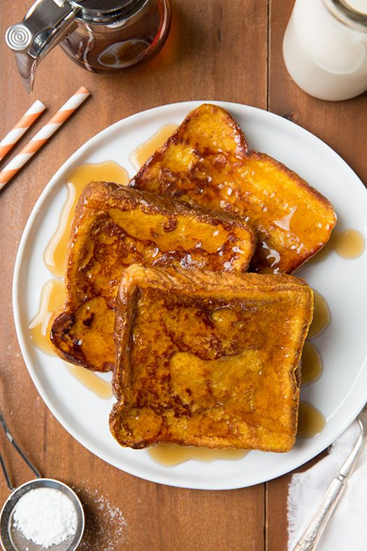 Pumpkin French Toast - the perfect Fall breakfast.
