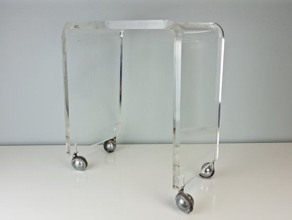 Reserved For Morgan Vintage Rialto Lucite Waterfall Vanity
