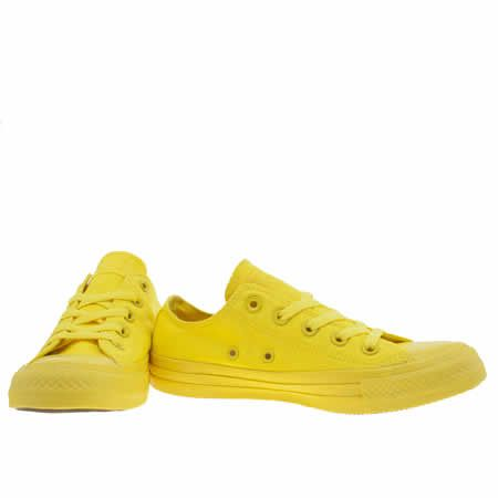 womens converse yellow all star monochrome ox trainers