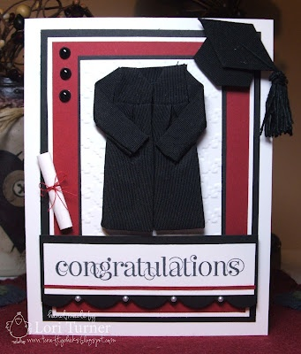 Graduation card I got these cute cap and gown stickers but wasn't