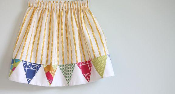 bunting skirt . thelongthread