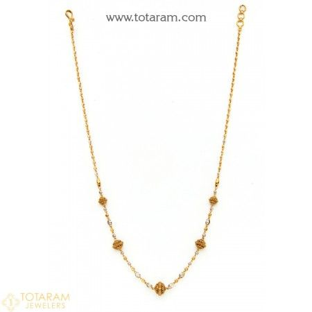 22K Gold Necklace for Women - 235-GN2184 - Buy this Latest Indian Gold Jewelry Design in 12.250 Grams for a low price of  $701.99
