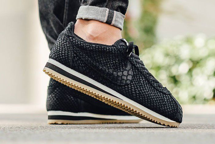 When it comes to OG runners, Nike's Cortez is one of the greatest, and it's Leather adaption remains a favourite for stylings like this 'Black Anaconda'